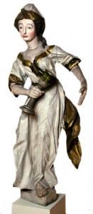 Dālderis.  Kalts Rīgā 1639. gadā Zviedrijas karalienes Kristīnas valdīšanas laikā. Sudrabs