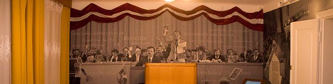 """22. martā TFM sarīkojums """"Pret komunistiem vai ar komunistiem toreiz? Radikālas pārmaiņas Maskavas kompartijā un to ietekme sabiedrībā"""""""