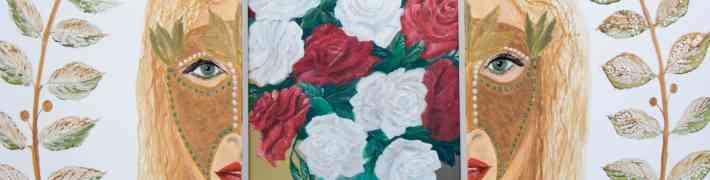 """Rutas Appenas gleznu un apgleznotu durtiņu izstāde """"Manas dvēseles ziedu durvis"""" Dauderos"""