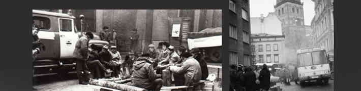 """Jaunieguvumu izstāde """"Vēstures liecības par 1991. gada janvāra barikādēm Rīgā"""""""