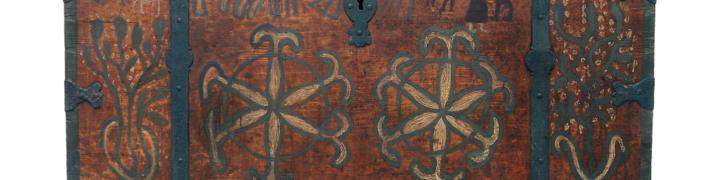 Dekoratīvie gleznojumi uz pūra lādēm un skapjiem