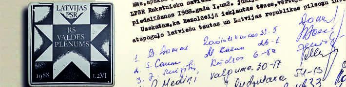 22. februārī Tautas frontes muzejā 1988. gada Radošo savienību plēnumam veltīts sarīkojums