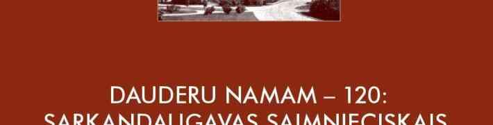 """Rakstu krājuma """"Dauderu namam – 120: Sarkandaugavas saimnieciskais, sociālais un kultūrvēsturiskais konteksts"""" atvēršanas svētki"""