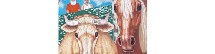 """LNVM Dauderu nodaļā Filipa Šalajeva gleznu izstāde """"Latvijas laukos"""""""