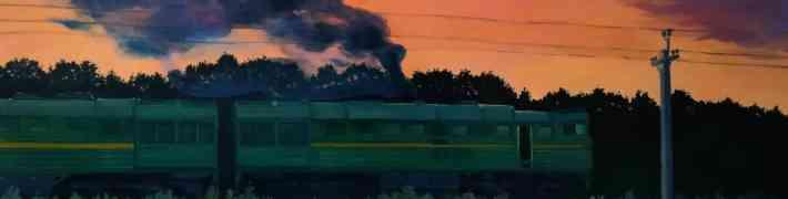 """Līdz 17. jūlijam """"Dauderos"""" apskatāma mākslinieces Gitas Palmas  gleznu izstāde """"Apvedceļš"""""""